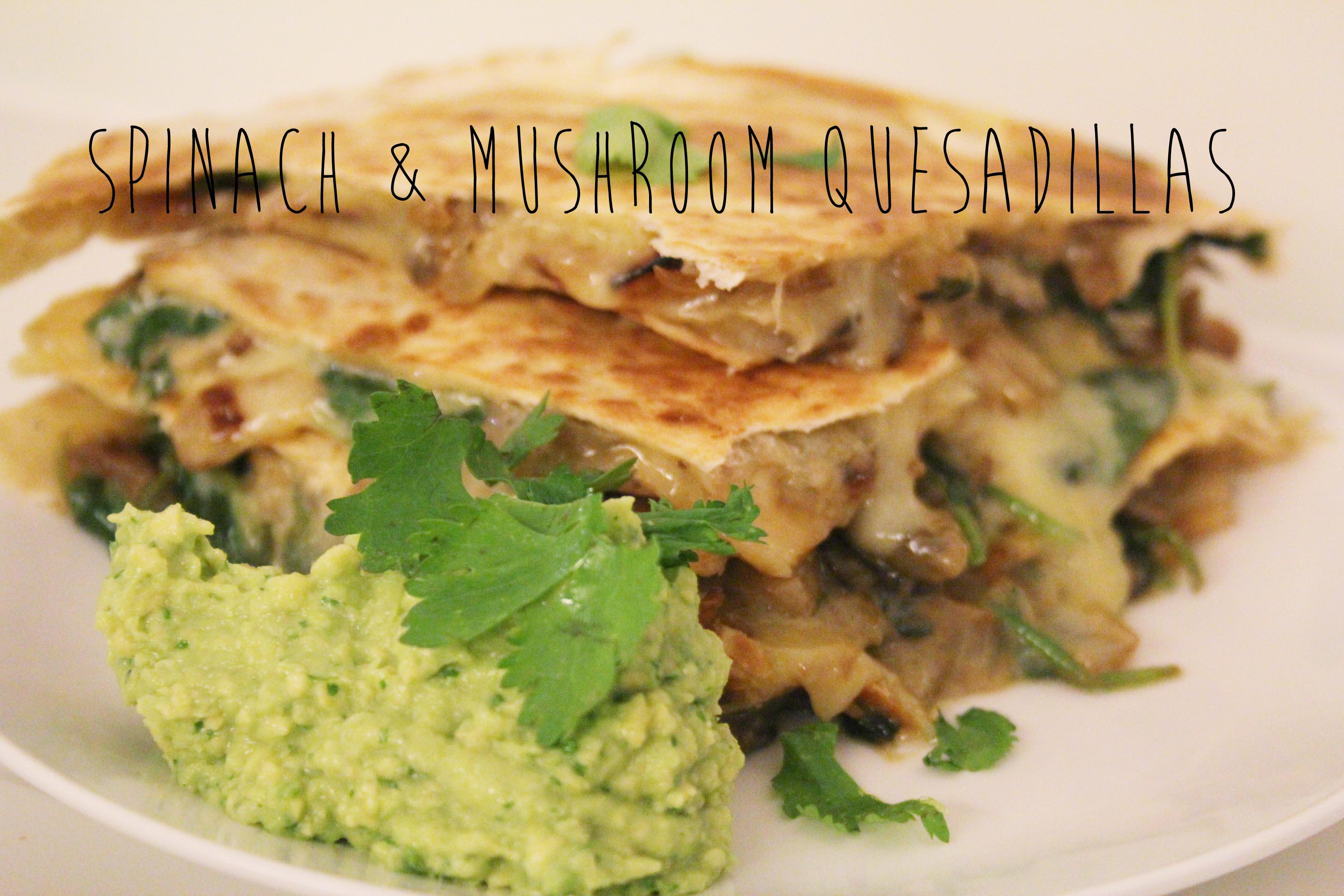 1877213332 Spinach & Mushroom Quesadillas